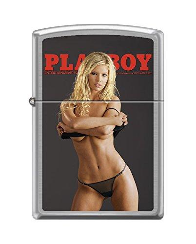 Zippo Playboy Cover September 2007 Pocket Lighter, Brushed - Playboy Zippo Lighters Cover