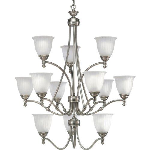 Progress Lighting P4510-81 12-Light Three-Tier Renovations Chandelier, Antique ()
