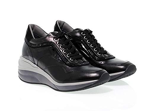 Donna Ed1n Paciotti Nero 4us Pelle Cesare Sneakers xqP8zwwn