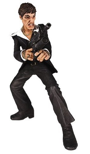amazon com scarface deluxe figure with sound black suit toys games