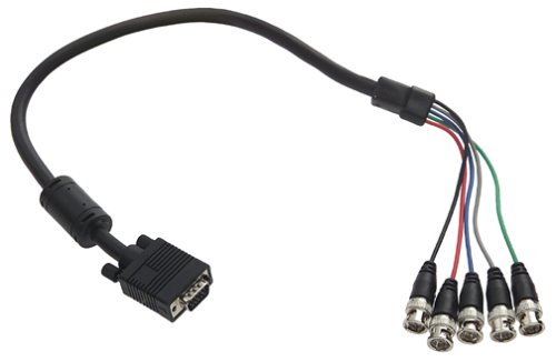 - Belkin Pro-Series 5-BNC Monitor Cable (6 Feet, HDDB15M to 5-BNC Male)