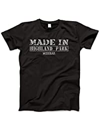 Hometown Made In Highland Park, Michigan Retro Vintage Style Shirt