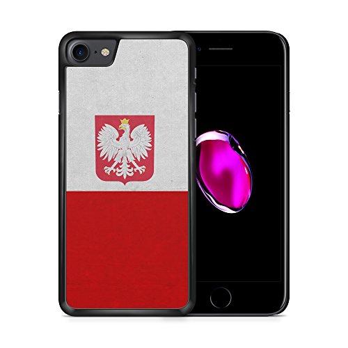 Polen Polska Poland Flagge iPhone 7 SCHWARZ Hardcase Hülle Cover Case Schale