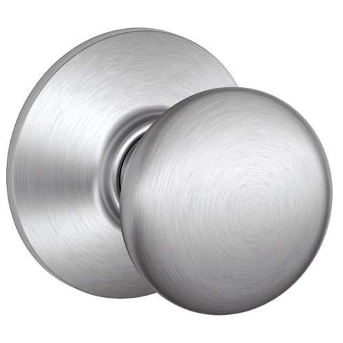 Schlage F10PLY626 Plymouth Passage Knob, Satin Chrome - Satin Chrome Knob