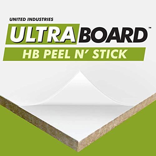 "UltraBoard Hardboard (HB) Peel N' Stick - 1/8"" Thick Self-Stick Adhesive Hardboard Mount Board or Mat Backer for Photo Mounting (8"