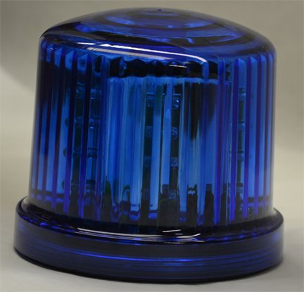 Battery Operated Blue Police Beacon - LED Strobe