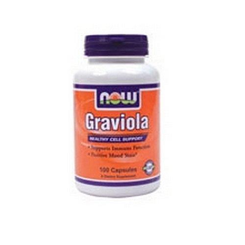 NOW Foods Graviola, 500mg / 100 gélules (pack de 2)