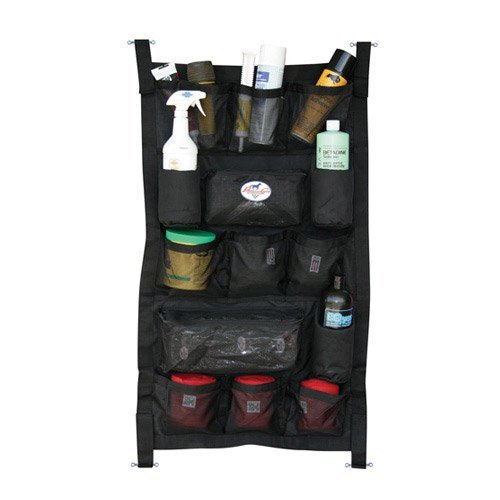Professionals Choice 24X40 Equine Long Trailer Door Caddy (Black)
