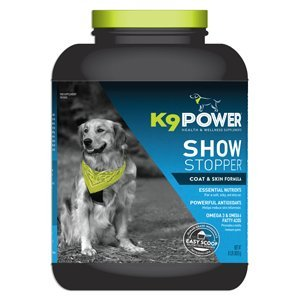 K9-Power Show Stopper Dog Coat and Skin Formula Improve Your Dog's Appearance - 8 lb