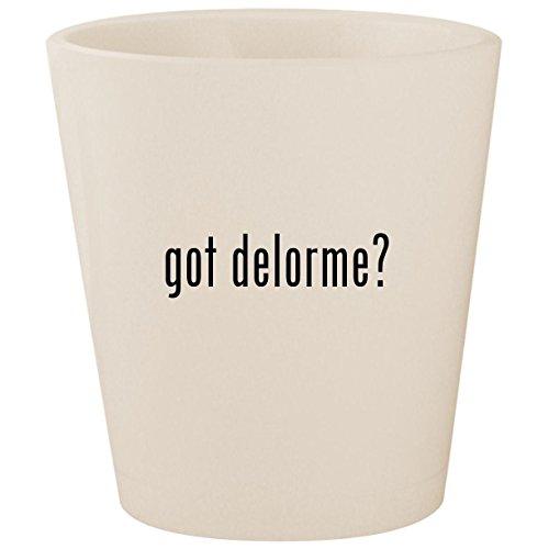 got delorme? - White Ceramic 1.5oz Shot Glass -