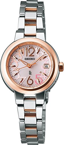 SEIKO watches LUKIA Rukia sapphire glass super clear coating solar radio Modify Emi Takei wear model advertising models for everyday life waterproof SSVW018 Ladies