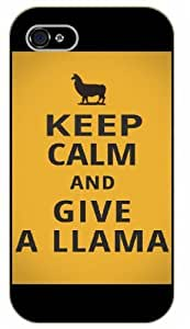 iPhone 5C Keep Calm and give a llama - black plastic case / Keep Calm, Motivation and Inspiration, funny