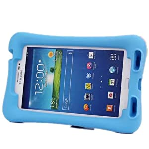 NEWSTYLE PT718 Shock Proof Light Weight Kids Protection Cover with Audio Amplifier Design for Samsung Galaxy Tab 3 7.0-Inch Tablet (Blue)