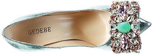 GEDEBE VERONIQUE0171LAMEAQUA37 - Zapatos de Tacón de Otra Piel Mujer 37 EU