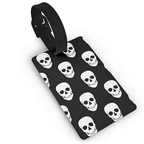 Halloween Holiday Skull Luggage Tags, Travel Luggage Labels for Luggage Suitcases Bags,Business Card Holder Travel ID Bag Tag ()