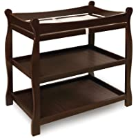 Badger Basket Sleigh Style Changing Table, Espresso