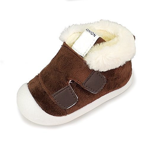 Z-T FUTURE Baby Boys Girls Snow Boots Convenient Kids Causal Winter Shoes With Warm Fleece