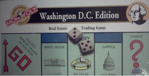 Washington Monopoly - Monopoly - Washington D. C. Edition (Real Estate Trading Game)
