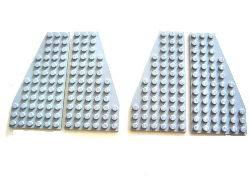 LEGO STAR WARS - 2 pairs of gray Wings - WING PLATES 10030 (30355 + 30356)