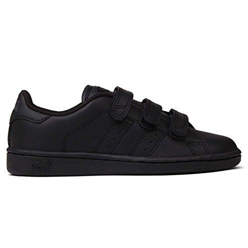 Lonsdale Kids Leyton Childrens Trainers Boys Sport Casual Shoes Footwear Black/Black 2 - Kids Lonsdale