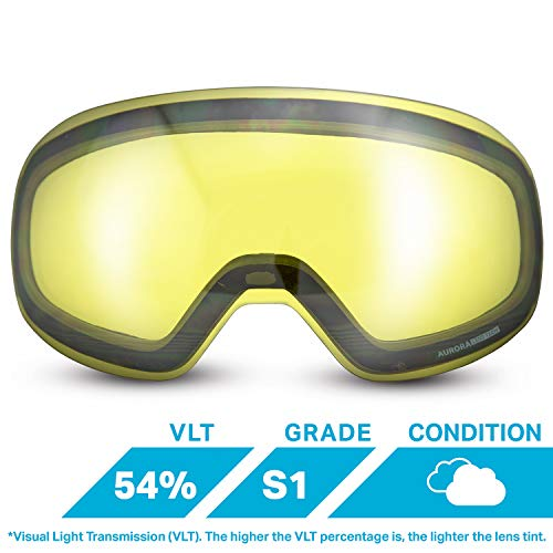 (WildHorn Outfitters Roca Extra/Replacement Frameless Snow Goggle)