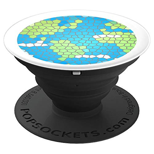 - Earth Day Map Mosaic Global Flat Earth World Planet - PopSockets Grip and Stand for Phones and Tablets