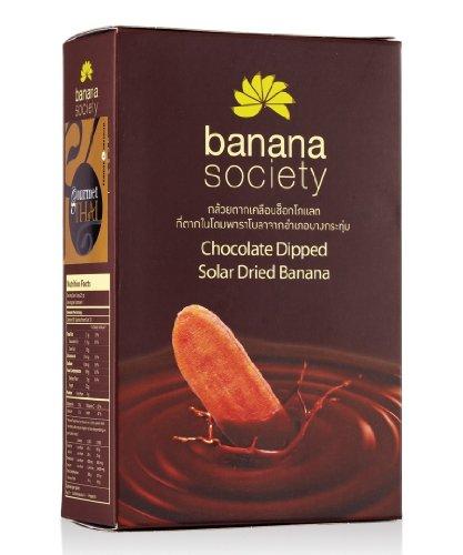 Crackers Chocolate Dipped (Banana Society Chocolate Dopped Solar Dried Banana 250g.)