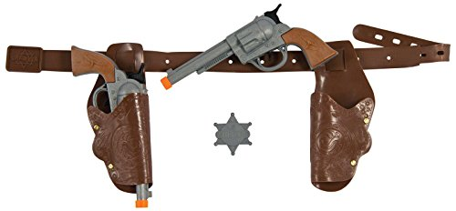 Holster Cowboy Costumes (Rubie's RUB1353ACC Cowboy Pistol and Gun Holster Set)