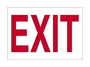 Exit Hundeschild Rot Weiß Deko Schilder Mit Sprüche Metall Aluminium Wand  Sicherheit Schild
