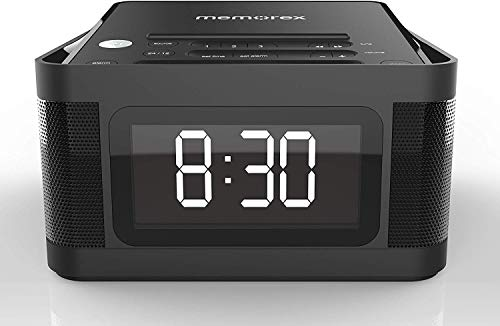Memorex MC8431 2 USB Charging Alarm Clock Radio with 1.2 Inch LCD Display, FM Radio and More, Black (Memorex Ihome)