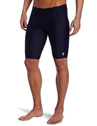 TYR Sport Men\'s Solid Jammer Swim Suit,Navy,32