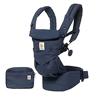 Ergobaby Omni 360 Baby Carrier for Newborn to Toddler 4-Position, Ergonomic Child Carrier Backpack, Midnight Blue 11