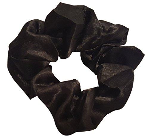 Satin Hair Scrunchies (4 Pack) (black)