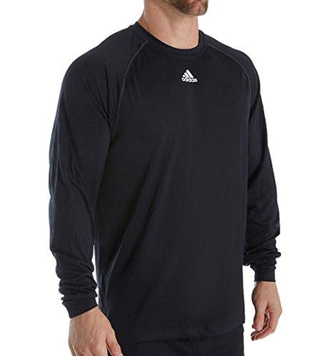 - Adidas Mens Climalite Long Sleeve Shirt, Black, X-Large