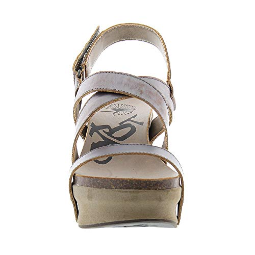 The Women's Beaten Heel Sail Wedge Track Off High PEWTER Sandals RqqHw75