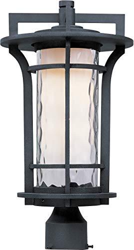 Maxim 65780WGBO Oakville Outdoor Post, 1-Light LED 9 Watts, Black - Single Head Oxide Black