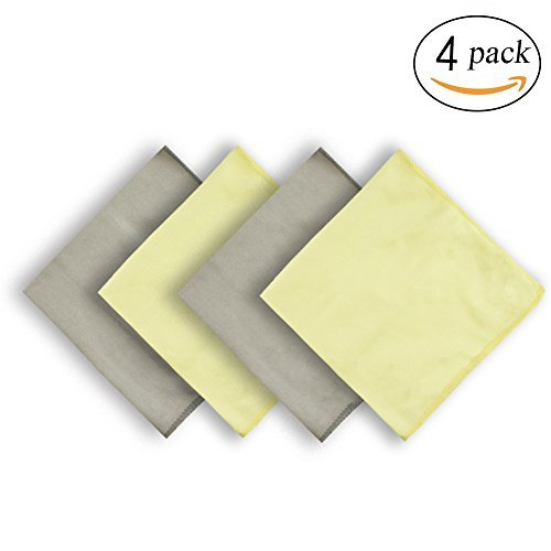 NEUAIR Glass Cleaning Cloths for Car Windows Mirrors Computer Screen TV Camera Lint Free Scratch Free (12''x16'',4 Pack)