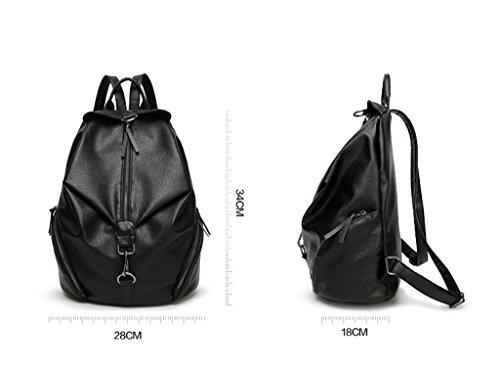borsa donna robusta Borsa viaggio borsa della da da casual TSRHFGT esterno pelle in da nera scuola Zaino donna 6nWRBx