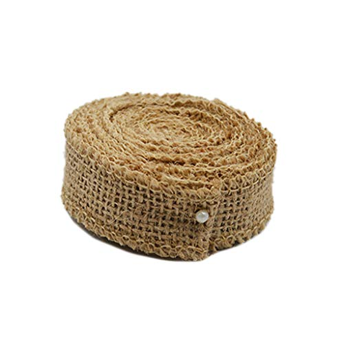 XeminorDIY Natural Jute Burlap Fabric Jute Roll Craft Burlap Ribbon for DIY Handmade Wedding Party Crafts Use 1 Roll 3M by Xeminor (Image #4)