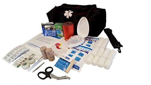 LINE2design EMS, Emergency Medical First Responder Rescue Trauma First Aid Kit Bag, Lifeguard - EMT - Paramedic - Black ()