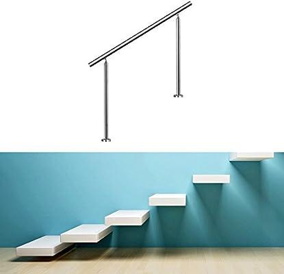 HENGDA® 80 cm 0 Traversini Barandilla de acero inoxidable Barandilla para escaleras pasamanos con travesera ringhiera: Amazon.es: Bricolaje y herramientas