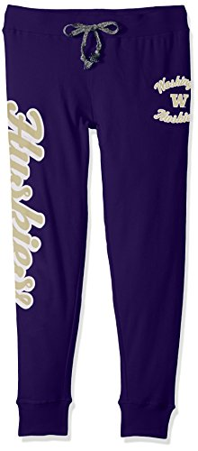 CAA Washington Huskies Juniors Boyfriend Jogger, Regal Purple, X-Large(15-17) ()