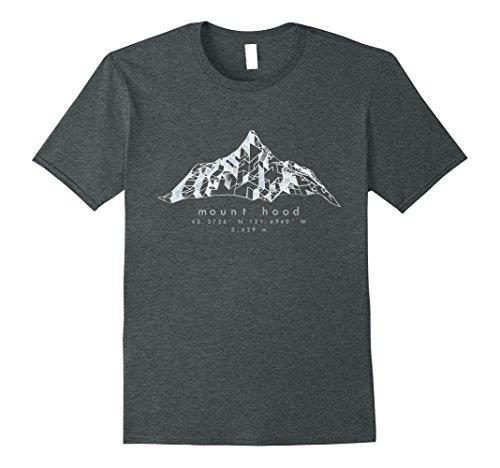 Mens Mt. Hood - Cascades, Oregon - NASA DEM Hiking Apparel Medium Dark Heather