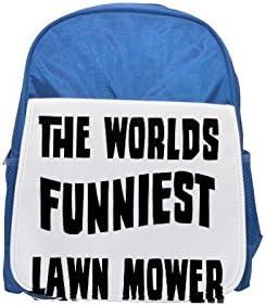 El mundo del más divertidos cortacésped impreso Kid 's azul mochila, para mochilas, cute small Mochilas, cute negro mochila, Cool mochila negra, moda mochilas, Gran moda mochilas, negro Fashion B