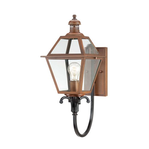 Savoy House 5-2110-153 Outdoor Sconce with Clear Shades, Aged Copper Finish by Savoy House