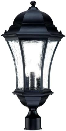 Acclaim 3627BK Waverly Collection 3-Light Post Mount Outdoor Light Fixture, Matte Black