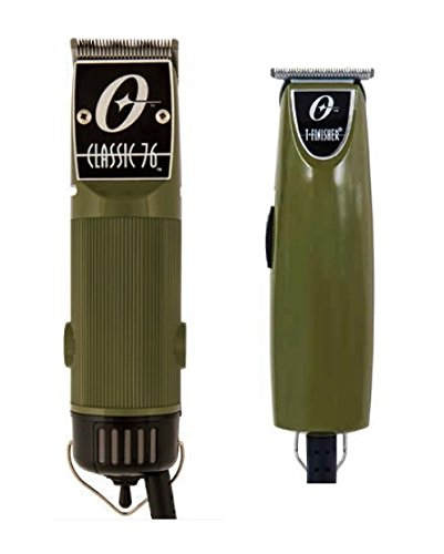 Oster Classic 76 Professional clipper Olive Green Color + T-Finisher Pro