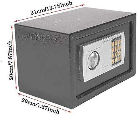 Home Office - Caja de Seguridad de Acero Digital, ignífuga, Segura e Impermeable, tamaño Mini: Amazon.es: Bricolaje y herramientas