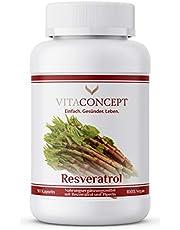 Resveratrol I 500 mg Trans-Resveratrol per kapsel, 90 kapslar (3 månader), Trans-Resveratrol från japanska fleråriga knutar, laboratoriestad, vegan, hög dosering, tillverkad i Tyskland, VITACONCEPT