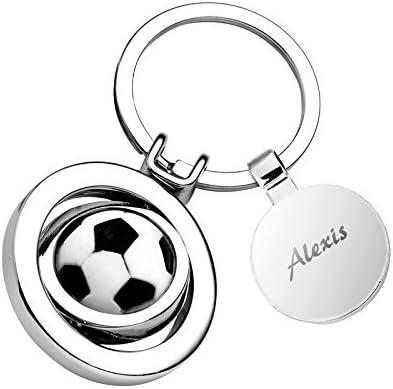 Amikado Llavero de balón de fútbol de Grabado: Amazon.es: Coche y moto